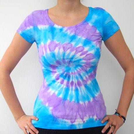 modro fialove batikovane tricko