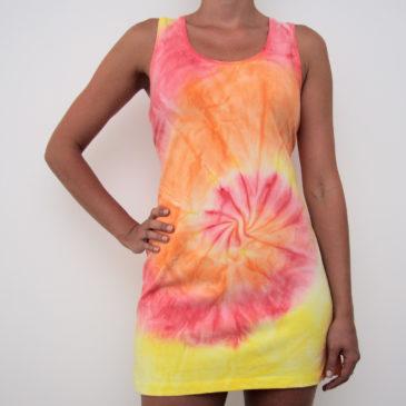Oranžové mini šaty