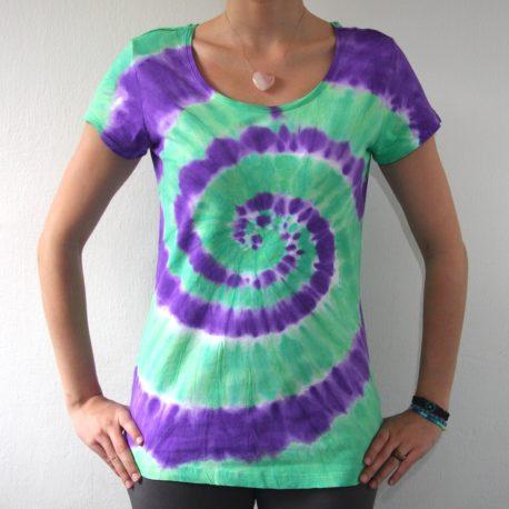 zelena fialova spirala