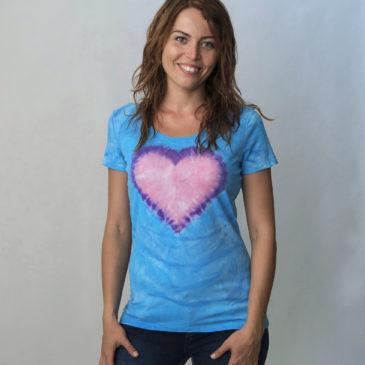Batika srdce modré
